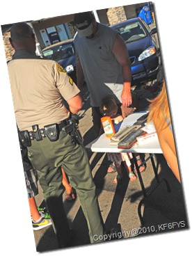 National Night Out CVS/LASD fingerprints_kids